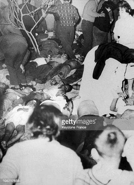 Bodies Of The Victims Of The Accident At The Stadium Of Lima, Stored At The Loayza Hospital In Lima On May 29, 1964. A General Riot Broke Out During...