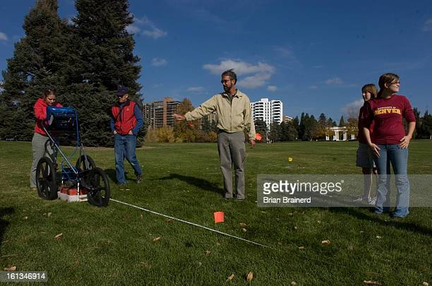 bodies26b Graduate archaeology students from DU use ground penetrating radar to search for human remains in Cheesman Park Friday Professor Lawrence...