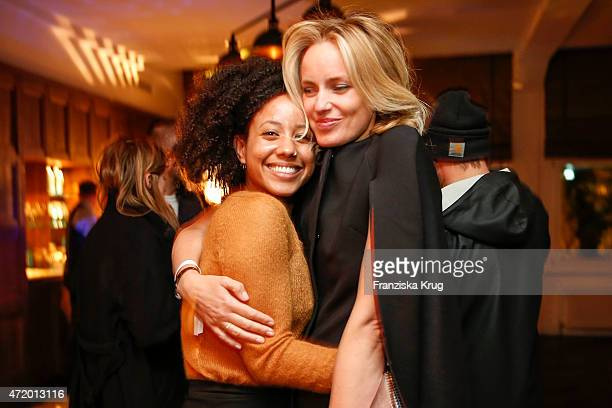 Bodil Bjerkvik and friend attend the Artist Weekend Berlin and Soho House party with Bombay Sapphire on May 02 2015 in Berlin Germany
