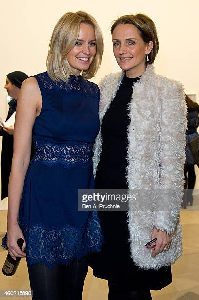 Bodil Blain and Saffron Aldridge attends the private view for Refraction The Image Of Sense curated by Peter J Amdam at Blain Southern on December 9...