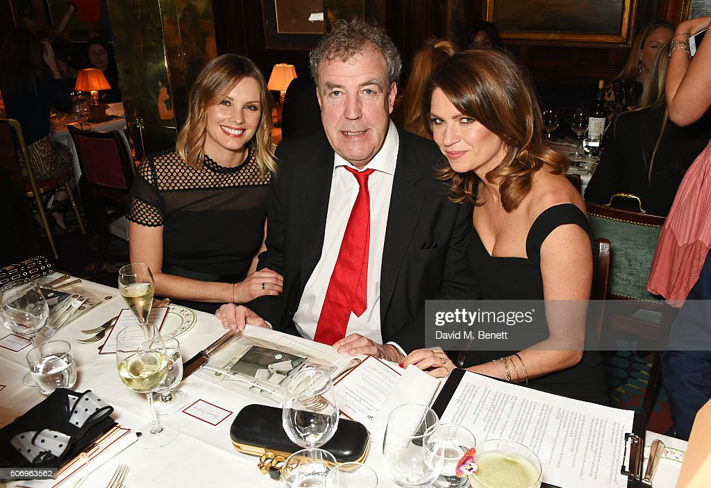 Bodil Blain, Jeremy Clarkson and Gabriela Peacock attend the launch of GP Nutrition Supplements, a collection of five premium nutritional programmes perfect for modern living, at Annabels on January 26, 2016 in London, England.