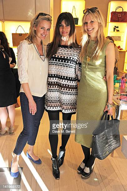 Bodil Blaine Lisa Barbuscia aka Lisa B and Calgary Avansino attend a children's afternoon tea party hosted by Roger Vivier to launch their new Jeune...