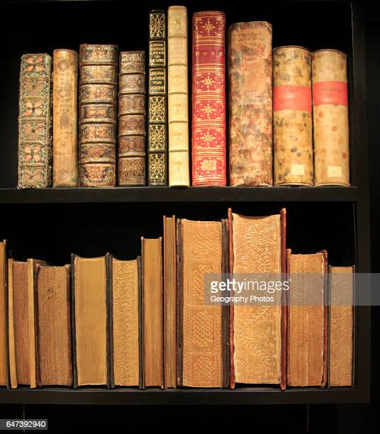 Bodleian Libraries new refurbished Weston Library display of historic books University of Oxford England UK