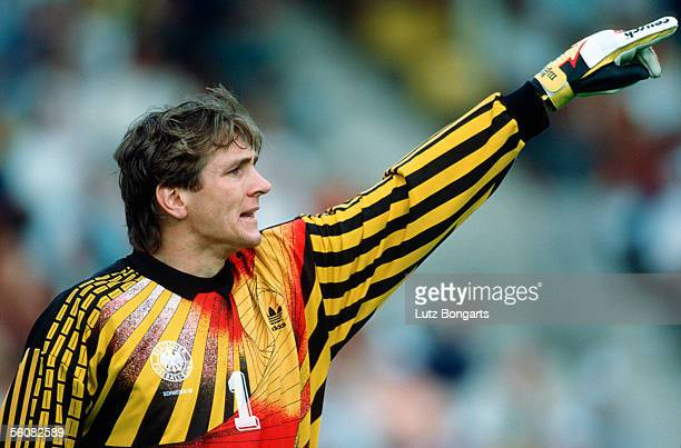 Bodo Illgner goalkeeper of Germany in action during the European Championship group 1 match between Scotland and Germany on June 15 1992 in...