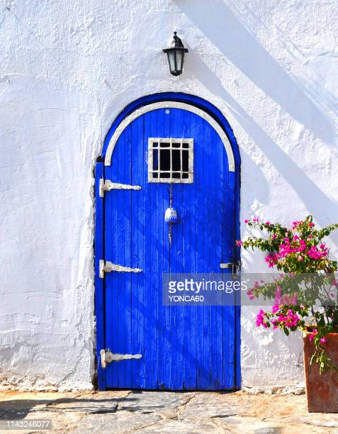 a bodrum house - aegean sea stock pictures, royalty-free photos & images