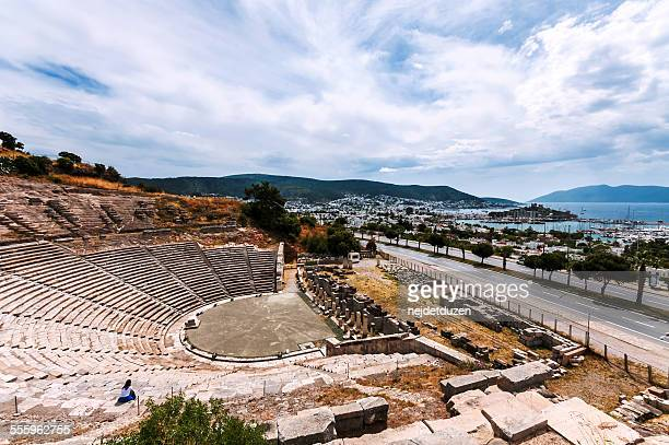 bodrum, turkey - amphitheatre stock pictures, royalty-free photos & images
