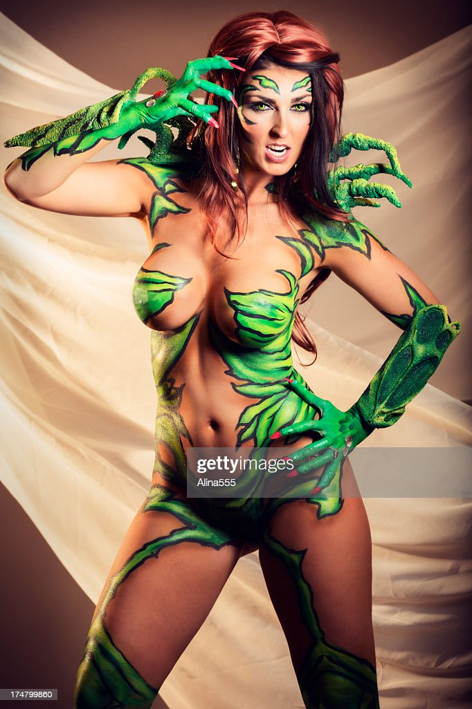 Body art: alien creature with sharp claws : Stock Photo