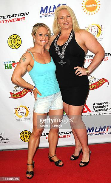 Body builder Dallas Malloy and personality Robin Coleman participate in The Operation Fitness Free Health Fitness Expo held at Westfield Culver City...