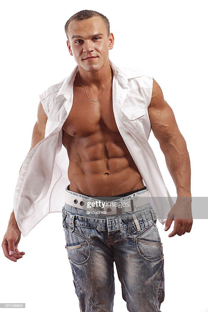 Body Builder Posing : Stock Photo