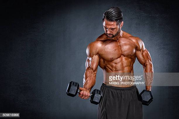 body building in progress - body building stock pictures, royalty-free photos & images
