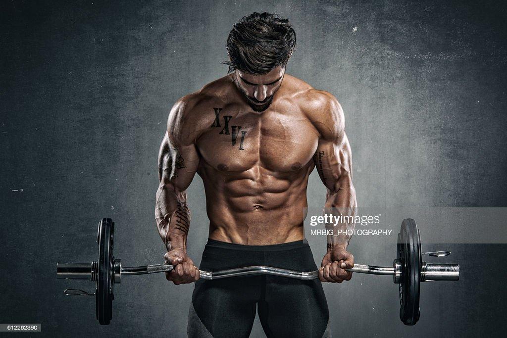 Culturismo de exercício  : Foto de stock