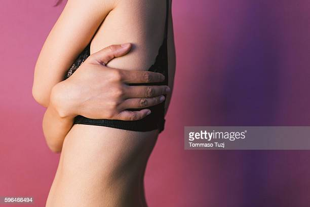 body details of a young woman - female bare bottoms stock photos and pictures
