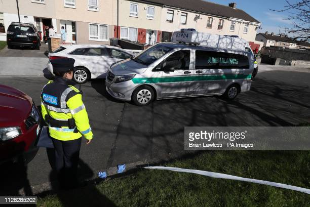 6e885e941a A body is removed from a property on Greenfort Drive Clondalkin west Dublin  where a woman