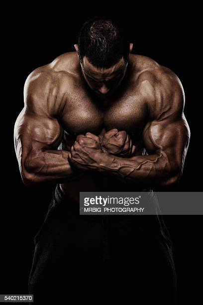 body of art - bodybuilding stockfoto's en -beelden