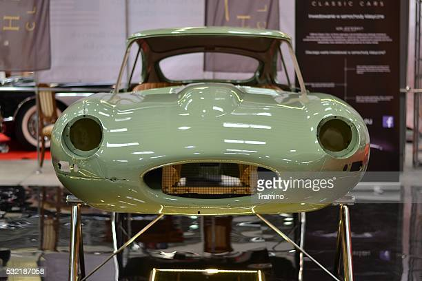 body of classic jaguar e-type - jaguar e type stock photos and pictures