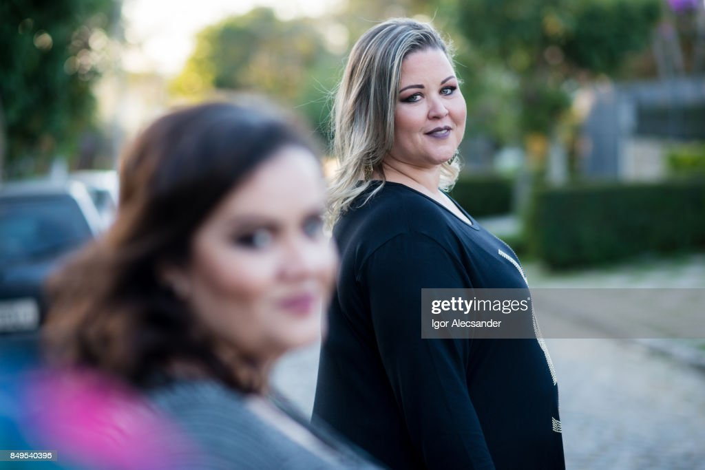 Body positive, plus size models : Stock Photo