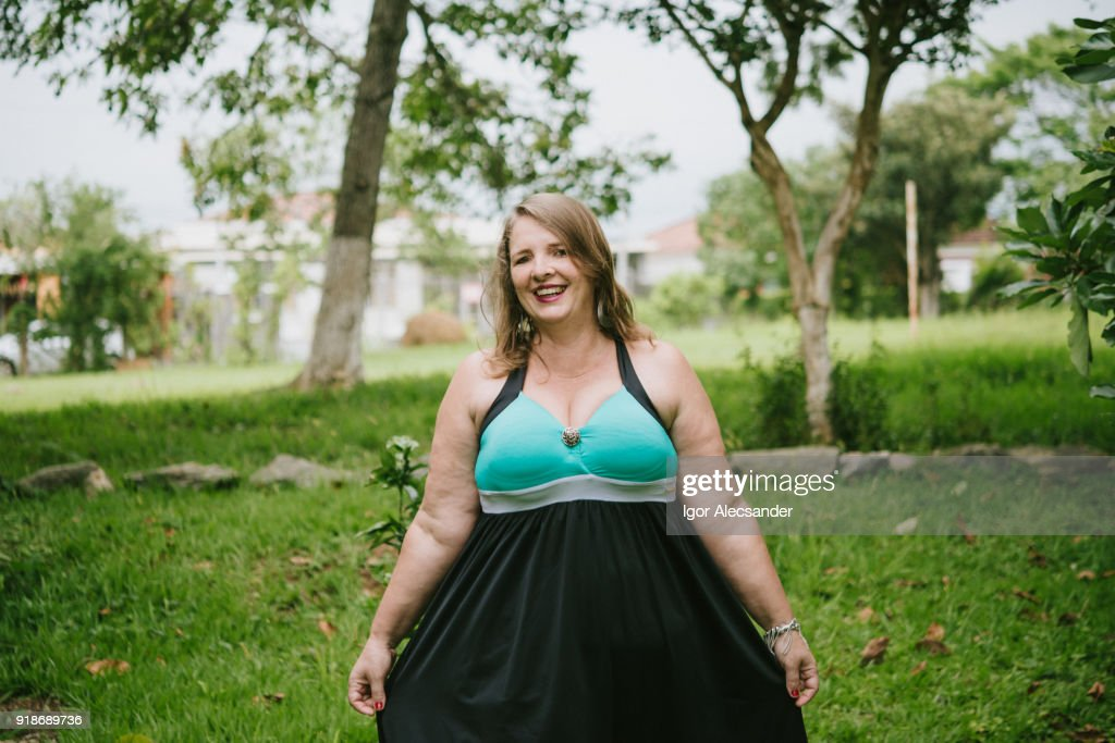 Body positive woman : Stock Photo