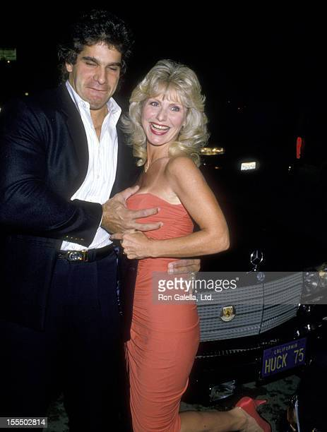 Bodybuilder and Actor Lou Ferrigno and wife Carla Green attend the Superstar of Sports Award on April 23 1988 at The Sports Club/LA in Los Angeles...