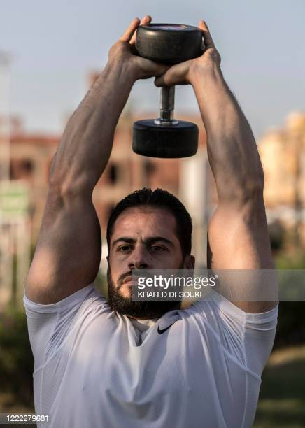 Bodybuilder coach Mohamed Nassim, a 33-year-old Syrian exile who settled in Cairo after escaping his war-torn country with the start of the conflict...