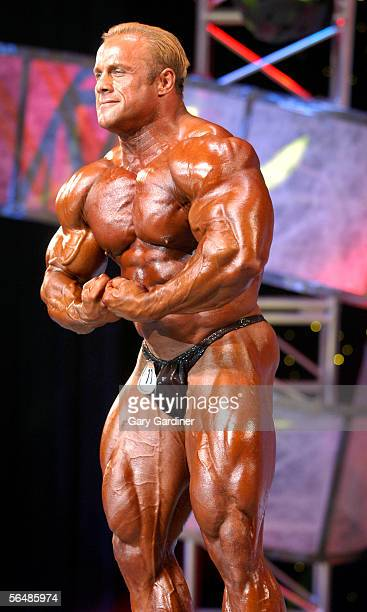 Bodybuilder Craig Titus poses during the 2004 Arnold Classic bodybuilding competition on March 7 2004 in Columbus Ohio According to reports Titus and...