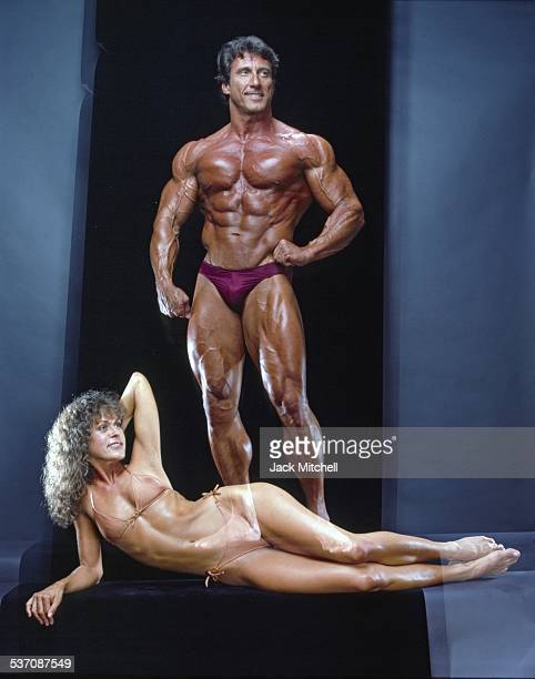 Bodybuilder Frank Zane and wife Christine, 1982.