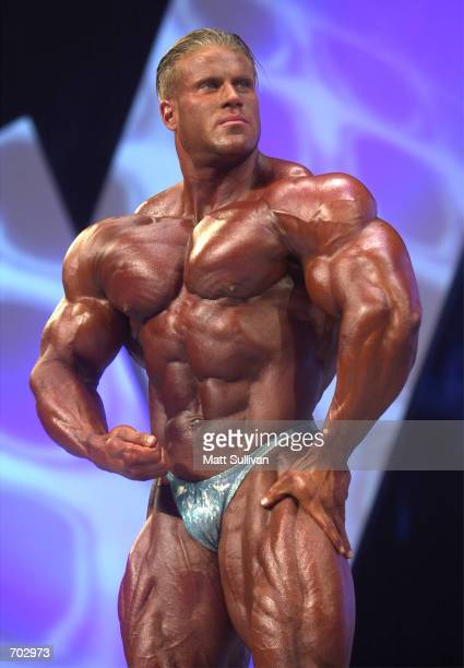 Bodybuilder Jay Cutler poses during The Arnold Classic 2002 February 23 2002 in Columbus OH Cutler went on to win the competition started by actor...