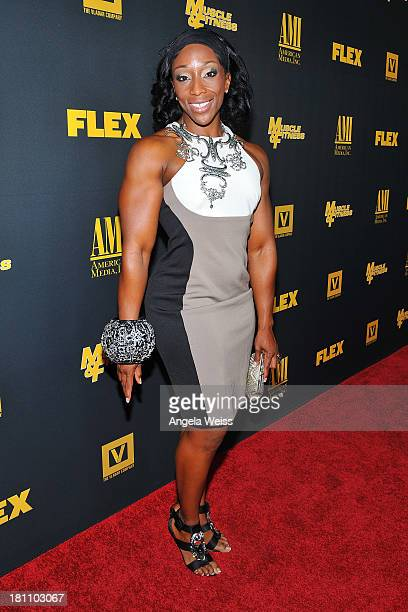 Bodybuilder Miss Bennett arrives at the Los Angeles premiere of 'GENERATION IRON' at Chinese 6 Theater Hollywood on September 18 2013 in Hollywood...