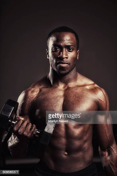 bodybuilder - black male bodybuilders stock photos and pictures