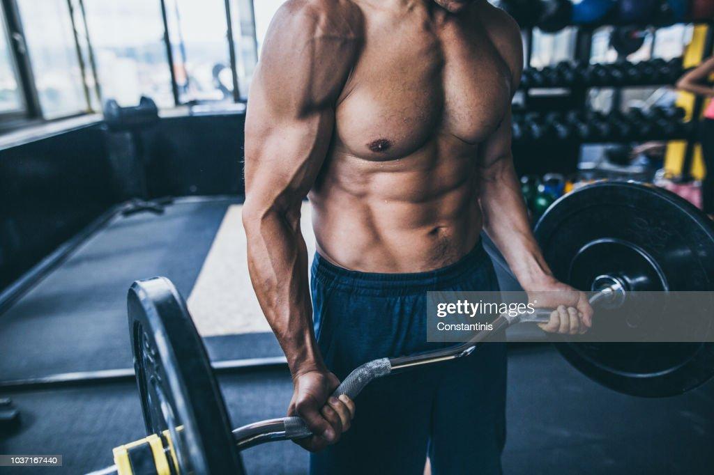 Bodybuilder Bauchmuskeln : Stock-Foto