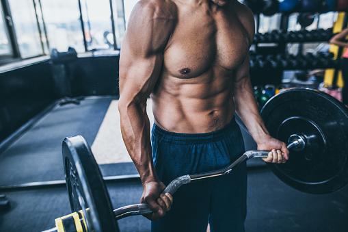 Bodybuilders abdominal muscles 1037167440