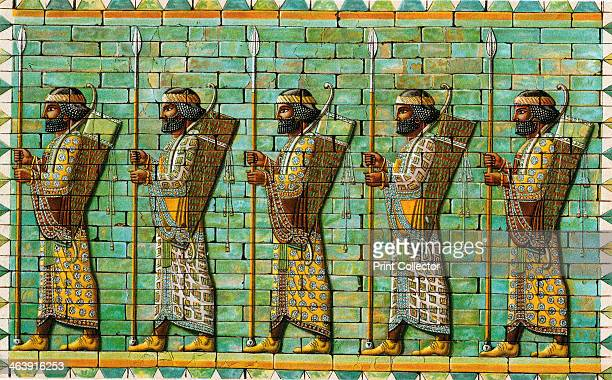 Bodyguard of Persian Kings 6th5th century BC Frieze from the audience hall of the citadel of Darius I at Susa excavated by French archaeologist...
