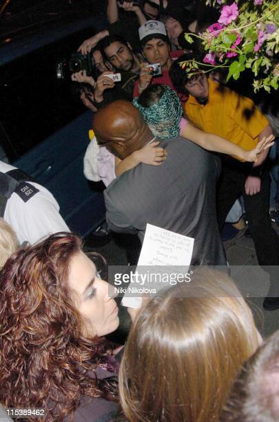 Bodyguard with one of Michael Jackson's children during Michael Jackson Sighting with his Children at Madame Tussauds October 9 2005 in London Great...