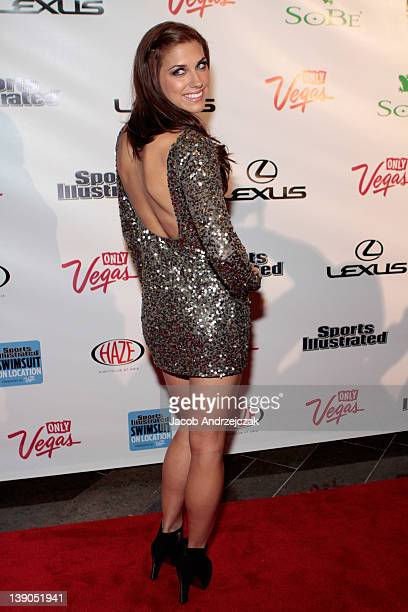 SI bodypaint model soccer player Alex Morgan arrives at SI Swimsuit On Location hosted by Haze Nightclub at the Aria Resort Casino at CityCenter on...