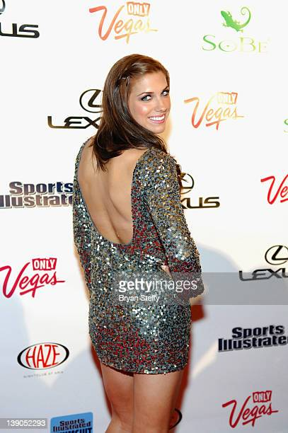 SI bodypaint model Soccer Player Alex Morgan arrives at the Sports Illustrated Swimsuit Models on Location hosted by HAZE Nightclub at ARIA Resort...