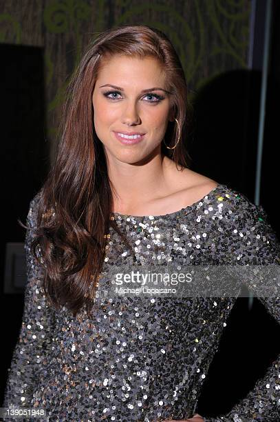 SI bodypaint model soccer player Alex Morgan attends SI Swimsuit On Location hosted by Haze Nightclub at the Aria Resort Casino at CityCenter on...