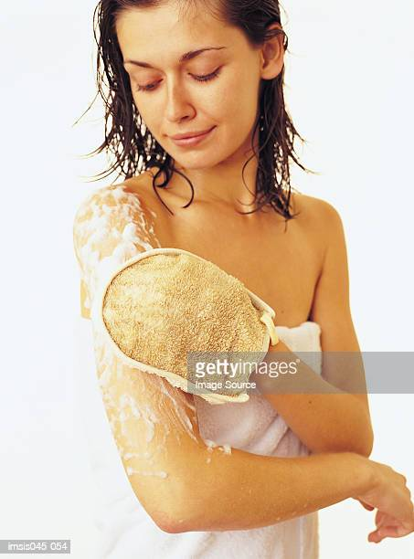 bodywash - loofah stock photos and pictures