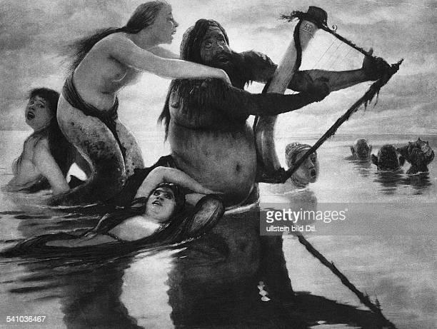 Boecklin Arnold *16101827Maler und Bildhauer CH`Meeresidylle'GemäldeReproduktion