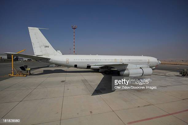 A Boeing 707 Re'em of the Israeli Air Force parked at Nevatim Air Force Base, Israel.