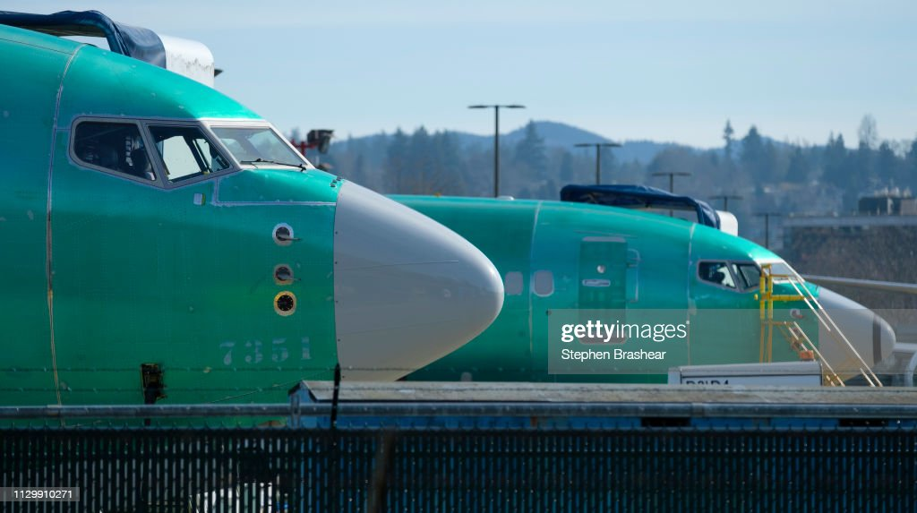 Boeing 737 MAX 8 Planes Face Renewed Scrutiny After Second Crash In 5 Months : News Photo