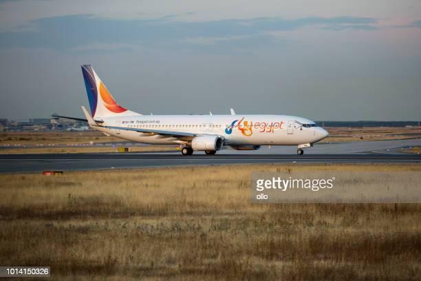 Boeing 737 der FlyEgypt Fluggesellschaft nimmt ab