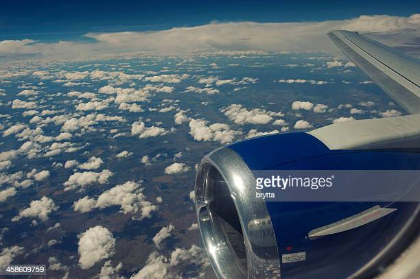 Boeing 737-300 above the clouds in Southern Africa