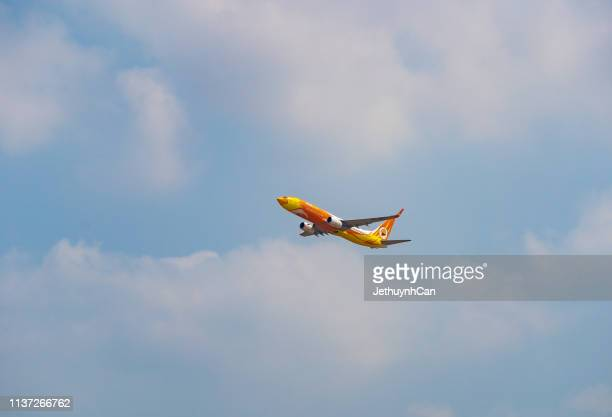 Boeing 737-800 airplane of Nok Air taking off from Tan Son Nhat Airport in Ho Chi Minh City