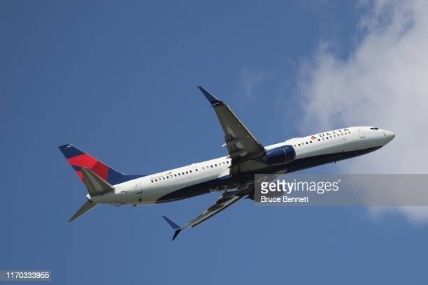Boeing 737-932ER operated by Delta Airlines takes off from JFK Airport on August 24, 2019 in the Queens borough of New York City.