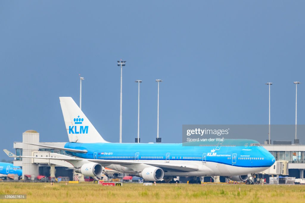 KLM Resumes Flight Operations from Schiphol Airport : News Photo