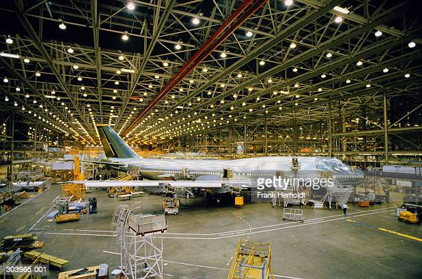 Boeing 747 production line, Seattle, Washington, USA