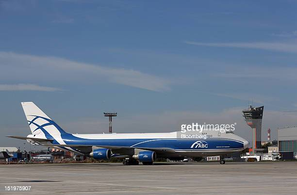 A Boeing 747400 ERF jet freighter operated by AirBridgeCargo part of the VolgaDnepr air cargo group the world's largest airline carrying oversized...