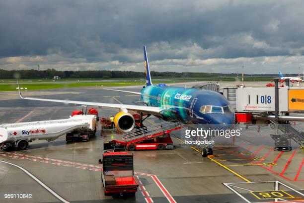 Boeing 757 Icelandair Hekla Aurora, Hamburg, Germany