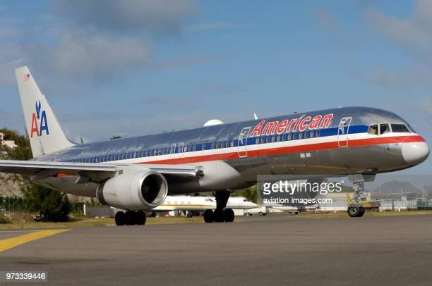 Boeing 757-223, of American Airlines at Sint Maarten Princess Juliana airport..
