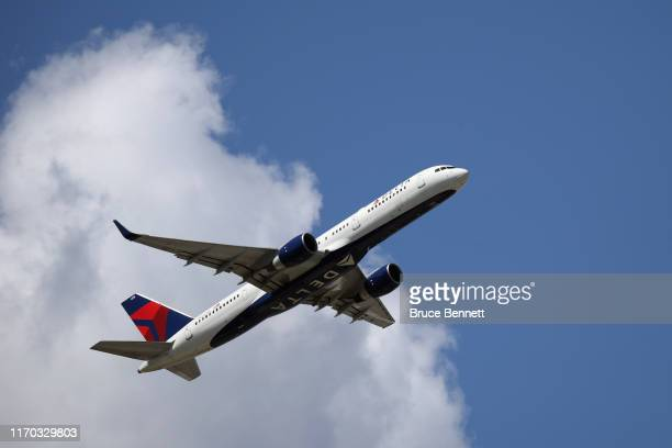 Boeing 757-231 operated by Delta Airlines takes off from JFK Airport on August 24, 2019 in the Queens borough of New York City.