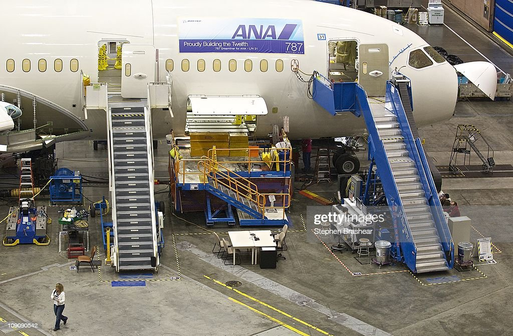 Boeing 777 and 787 assembly lines February 14, 2011 at the